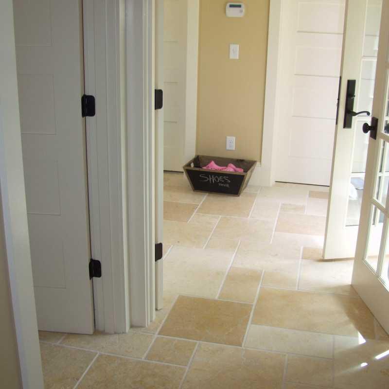 Seashell limestone floor