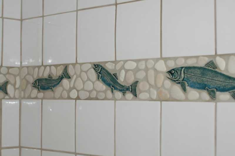 Inspiring Decorative Accents Fish And Pebbles Border