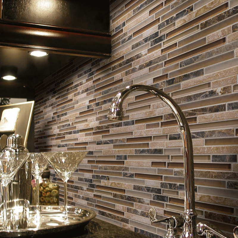 Linear backsplash