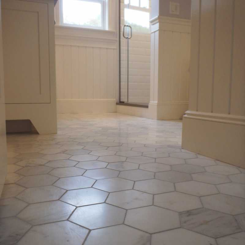 Tilery.marblehexagon.bathroom.floor.capecod.tile.5inch.hexagon