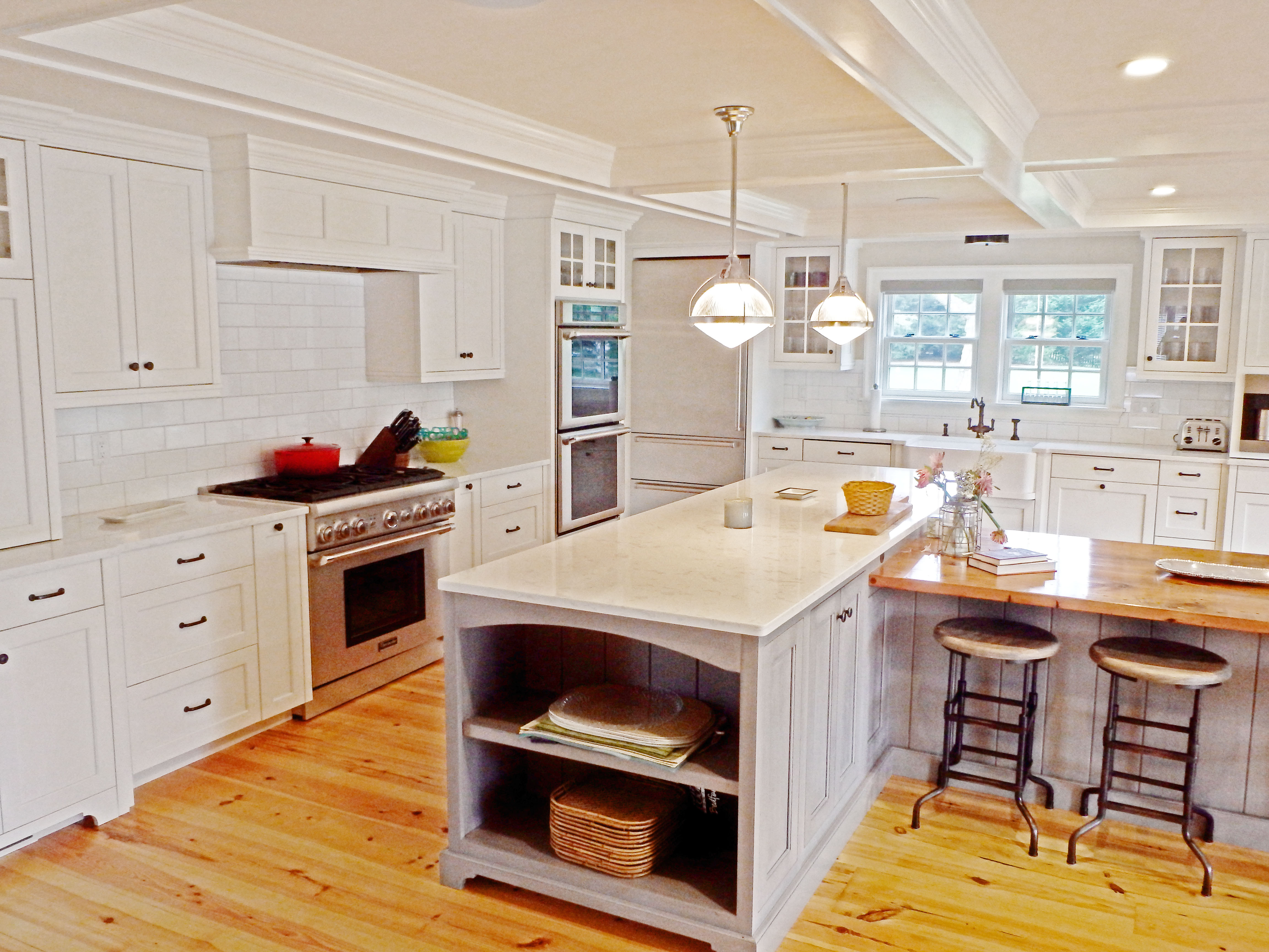 Inspiring Kitchens 4 X 8 Subway Tile Kitchen Backsplash At The Tilery Your New England And Cape Cod Tile Experts