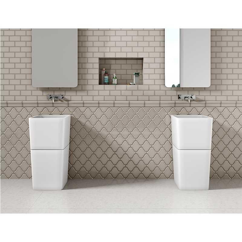 Tilery.arabesque and subway bathroom