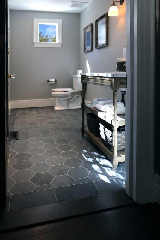 The-tilery-slate-hex-bath-floor