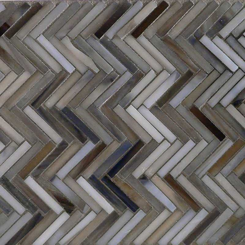 Detroit blues hip herringbone glass mosaic copy