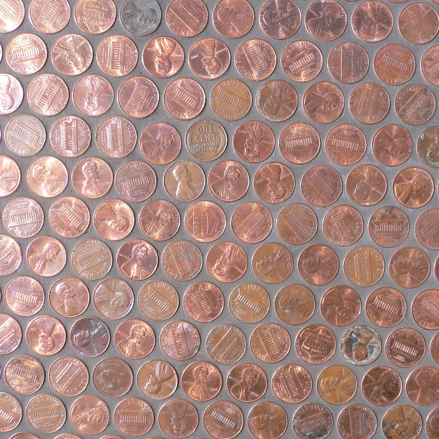 copper penny mosaic mosaic tile at the tilery your