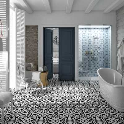 Tilery.hydraulic.black.floor.bathroom.decorativetile