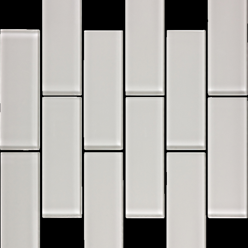 "Mist Gloss Glass Brick Mosaic 2"" x 6"" - Tilery"