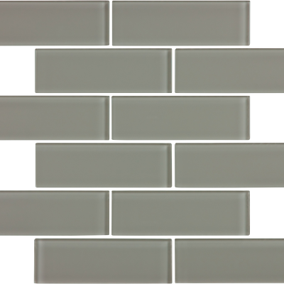 Smoke Gloss Glass 2 x 6 Brick Tilery