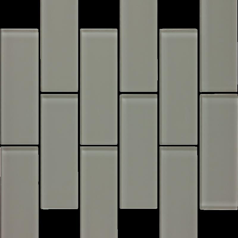 Smoke Gloss Glass 2 x 6 Brick Tilery