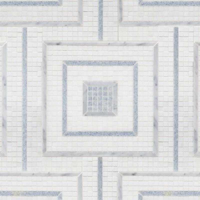 Morningside square blue mosaic tilery