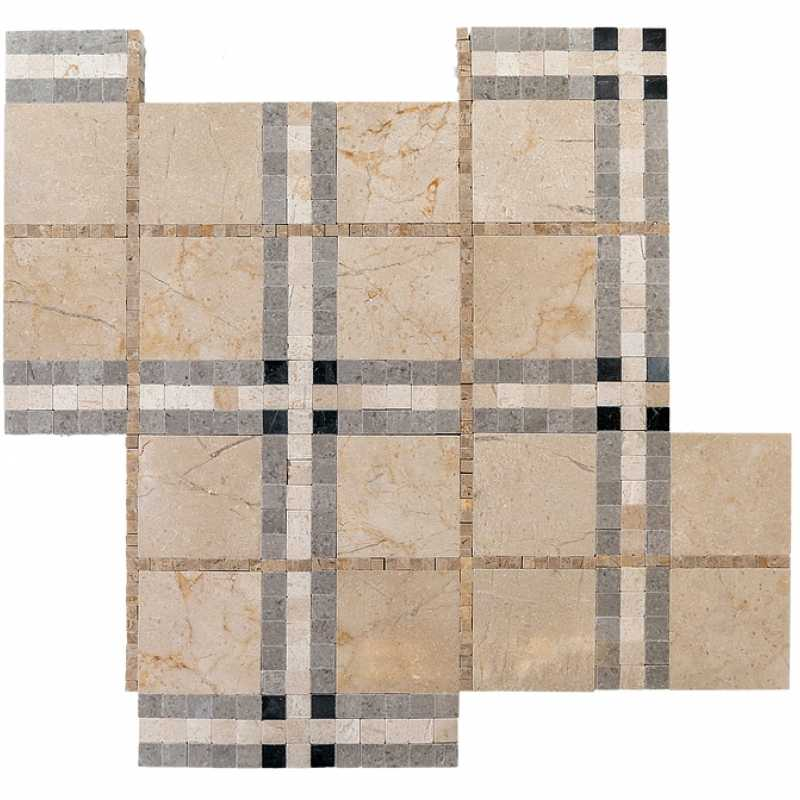 Crema plaid mosaic tilery