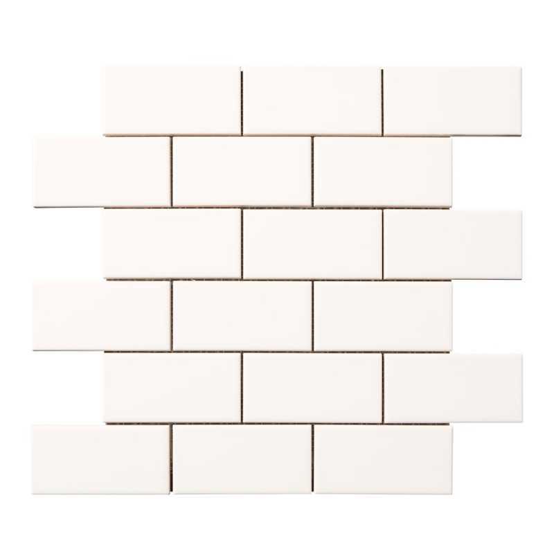 Neri white 2x4 mesh tilery