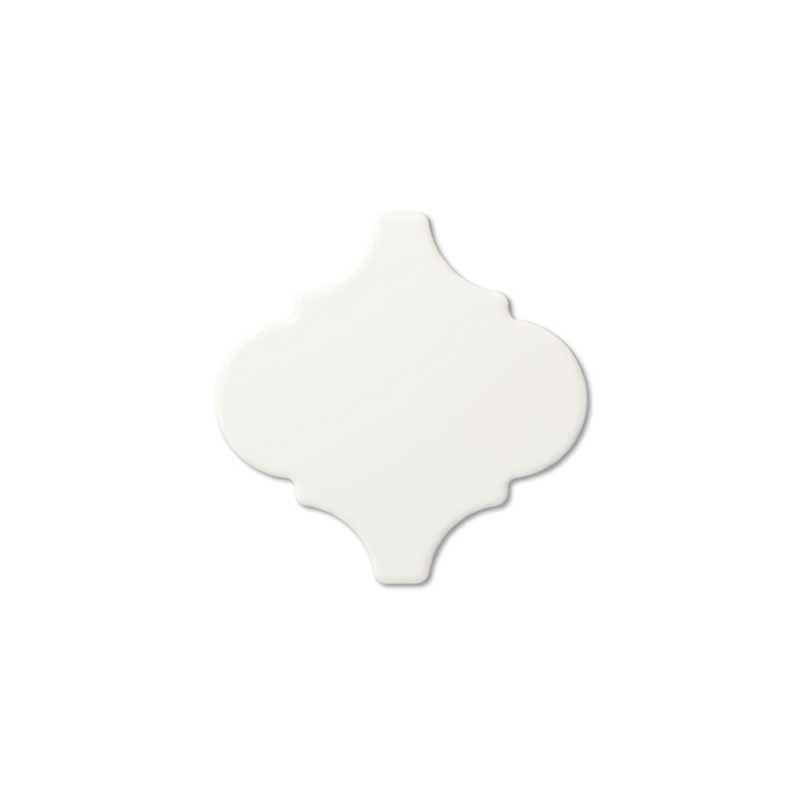 Neri white 6 arabesque tilery