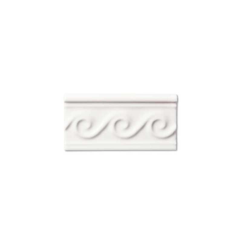 Neri white waves border 3x6
