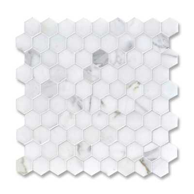 Hex statuary carrara 3cm tilery