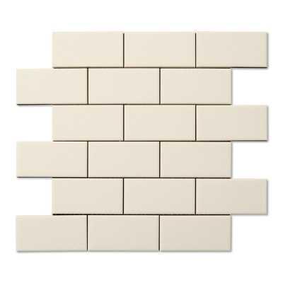 Hampton bone 2x4 mosaic crackle