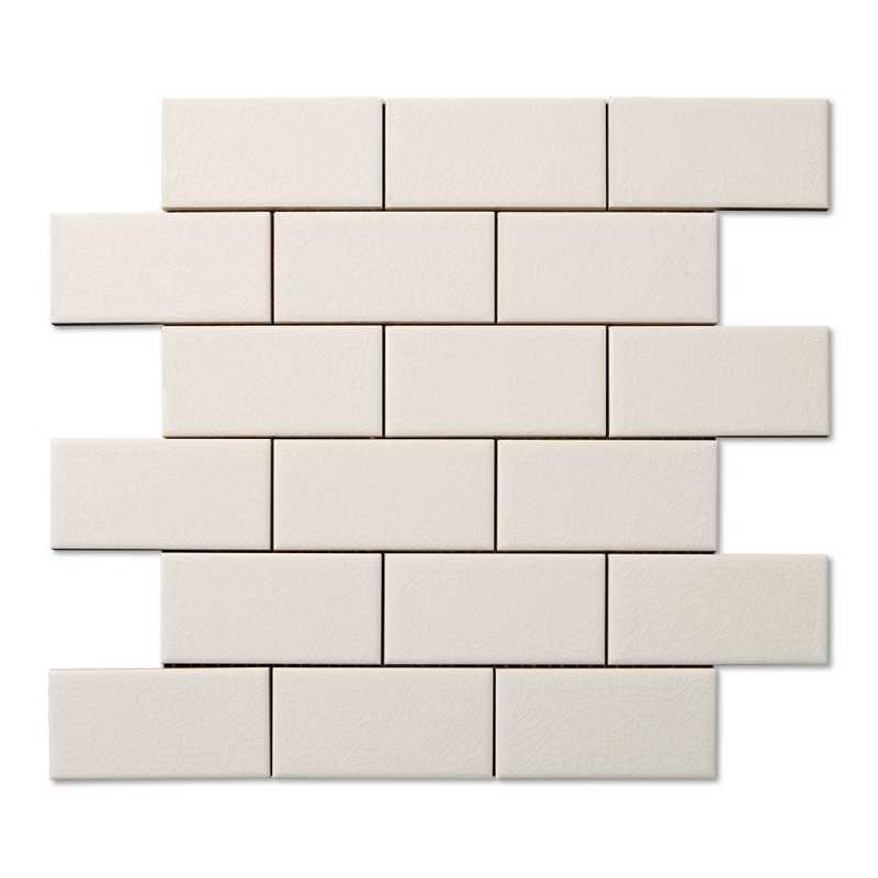 Hampton white 2x4 mosaic crackle