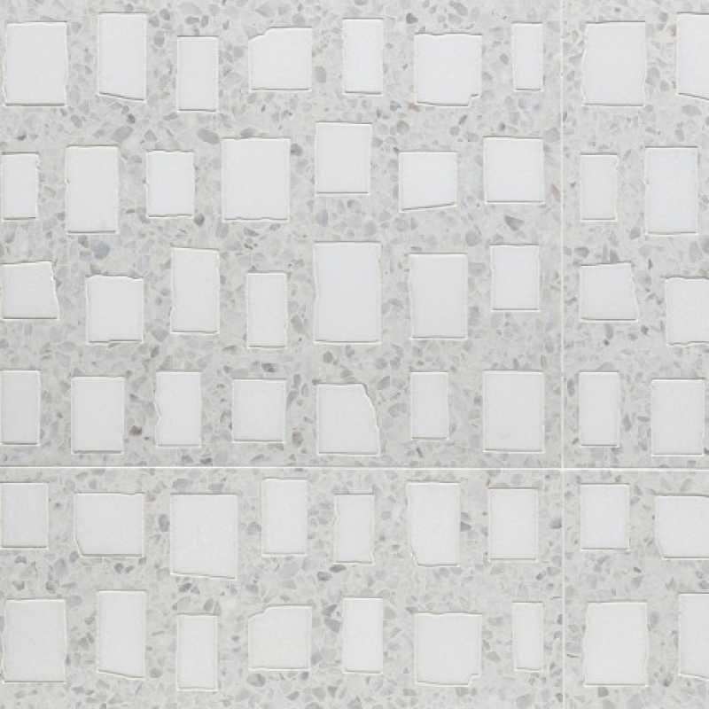 Tilery squares white terrazzo