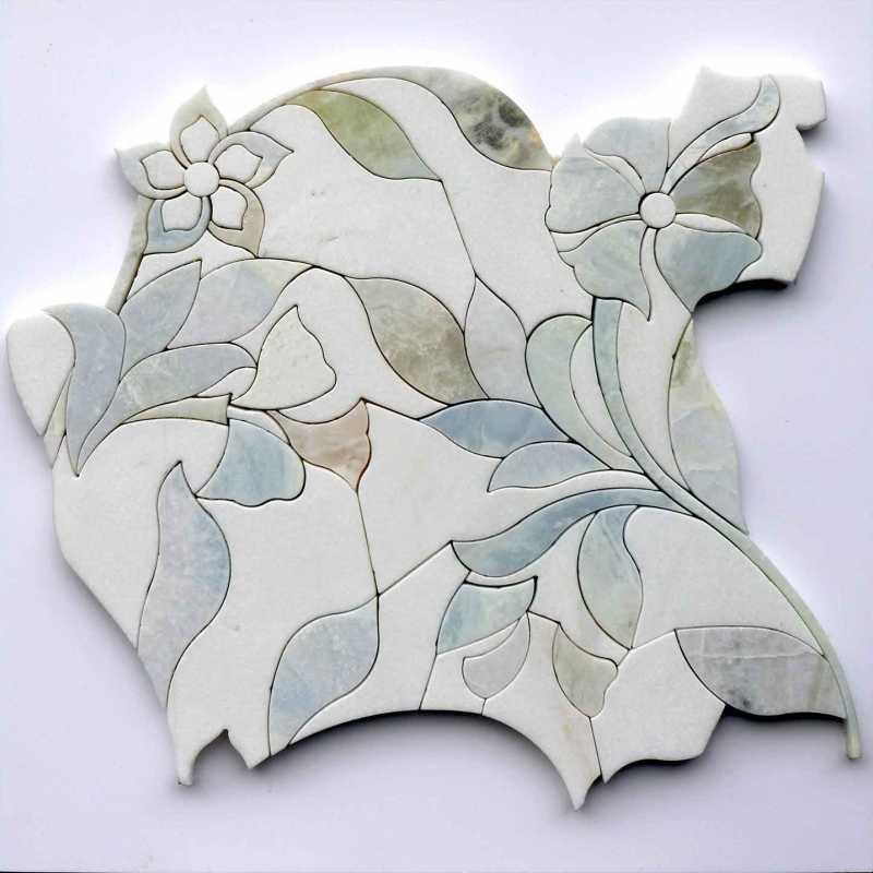 Tilery Lily Waterjet Mosaic