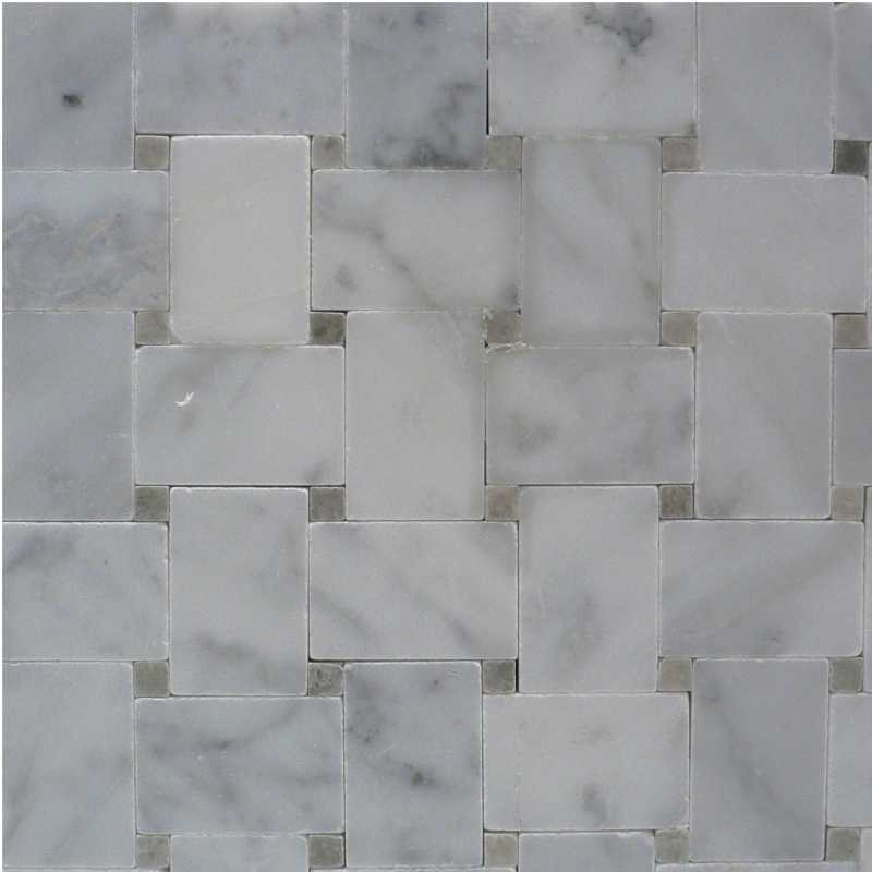 Carrara-spain-grey microbasketweave tilery mosaic copy