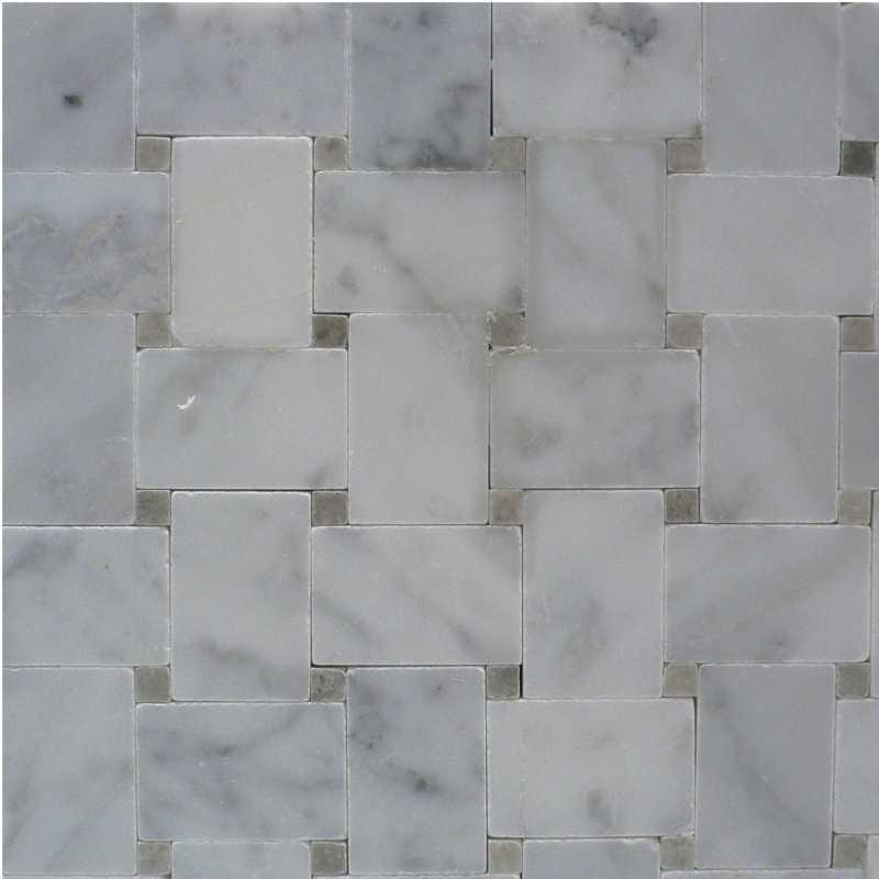 Carrara-spain-grey microbasketweave tilery mosaic copy