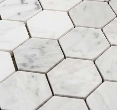 Tilery.carrara.honeycomb.mosaic