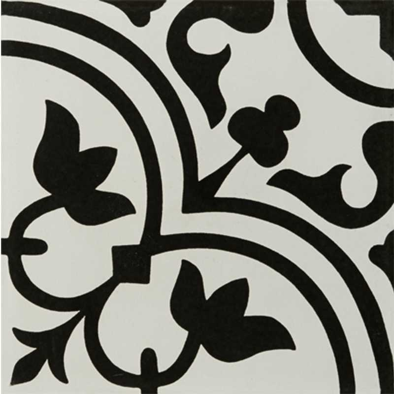 tileryhydraulicblackporcelaindecorativetile12x12 - Decorative Tile